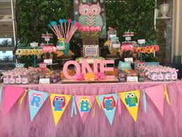 1st birthday party decorations at home interior design awesome owl themed birthday party decorations