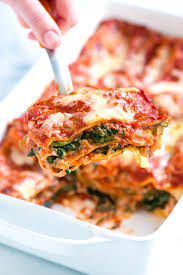 cuisine lasagne healthier spinach lasagna recipe with mushrooms
