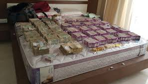 biggest bed ever biggest ever seizure of cash in new currency i t recovers rs 5 7