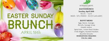 Easter Brunch Buffet Menu by Atlanta Golf Course Summer Grove Golf Club Newnan Ga Jemsek