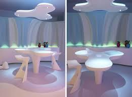 glamorous futuristic interior design concept by karim rashid