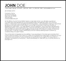free guidance counselor cover letter templates coverletternow