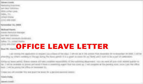 how to write a leave application letter for 1st prize high