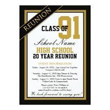 high school reunion invitations formal high school reunion card zazzle