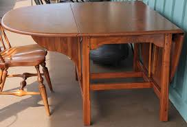 Pine Drop Leaf Table Custom Made Walnut Drop Leaf Table Reclaimed Wood