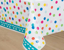 gold polka dot table cover golden happy birthday tablecover 1 ct gold party tablecover gold