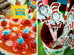 dr seuss 1st birthday kara s party ideas dr seuss cat in the hat 1st birthday party