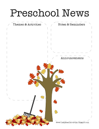 the crafty fall preschool newsletter template