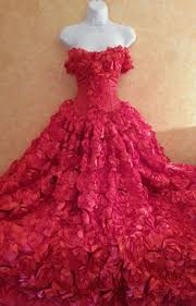 sample gown listing only red rose goddess modified middle