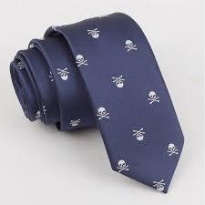 halloween slim ties for men skull tie party 2017 new in ties