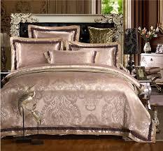 Jacquard Bed Set Satin Jacquard Bedding Sets Luxury Embroidered Bed Set Silk Cotton