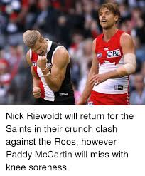 New Orleans Saints Memes - qbe isc nick riewoldt will return for the saints in their crunch