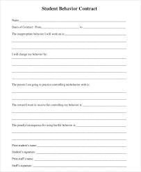 sample behavior contract behavior contract better discipline with