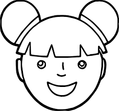 asian face coloring page wecoloringpage