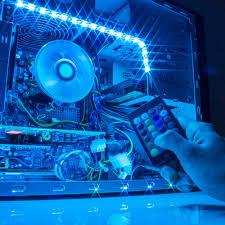 blue led strip lights 12v amazon com satechi rgb led light strip with remote control for