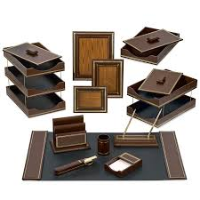 Desk Accessory Set by Office Desk Organizer Set Amazon Com Kingfom Pu Leather Square