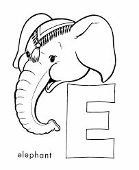 abc alphabet coloring sheet elephant honkingdonkey