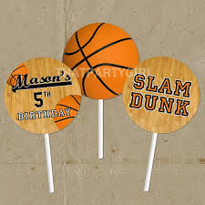 basketball cake toppers diy basketball birthday party favor tags cup cake toppers