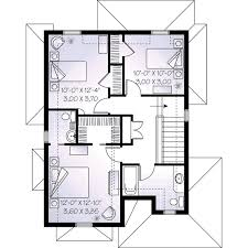 European Floor Plans European Style House Plan 3 Beds 2 50 Baths 1603 Sq Ft Plan 23 550