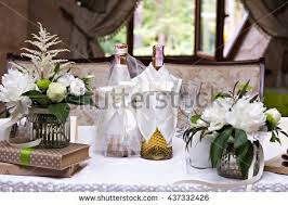 bouquet white flowers wedding table decor stock photo 450775408