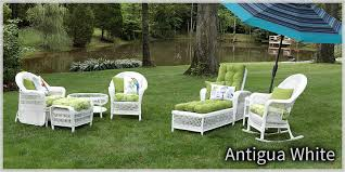 White Wicker Outdoor Furniture Outdoorlivingdecor - Outdoor white wicker furniture