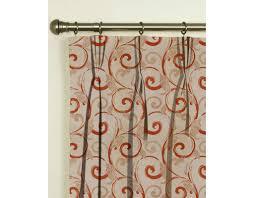 Rust Color Curtains Presto Bazaar Rust Colour Abstract Jacquard Curtain India