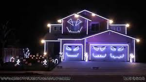 Awesome Halloween House Decorations Awesome Halloween Light Show U2013 Festival Collections