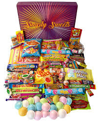 simply sweets super retro sweet hamper gift box packed with the