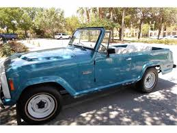 teal jeep for sale 1973 jeep jeepster commando for sale classiccars com cc 758417