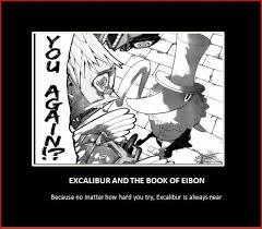 Soul Eater Excalibur Meme - excalibur he s everywhere by magiotakukittykat on deviantart