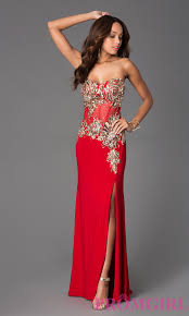 strapless corset style long prom dress sequin prom gown promgirl