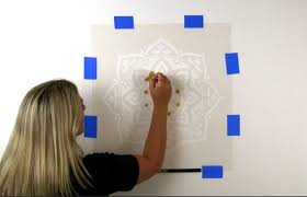 paint exotic mandala wall art using a stencil stencil stories