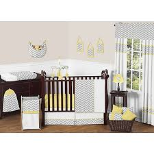 Zig Zag Crib Bedding Set Sweet Jojo Designs Zig Zag Chevron Crib Bedding Collection In Grey