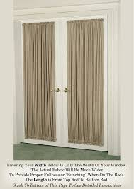 Curtains With Rods On Top And Bottom Door Curtains In Burnished Sateen Crushed Fabric 100 Opaque
