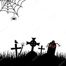 halloween graveyard vector illustration u2014 stock vector caps lock