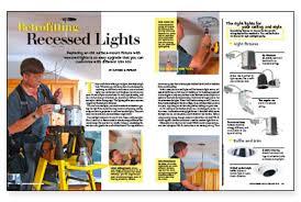 how to install retrofit recessed lighting retrofitting recessed lights fine homebuilding