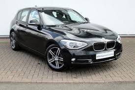 black bmw 1 series 2015 bmw 1 series 2 0 116i sport 5 dr hatchback black in york