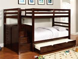 Bunk Bed With Trundle Wooden Bunk Beds With Trundle Plans
