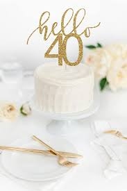 hello wedding cake topper hello 40 cake topper 40th birthday cake topper glitter