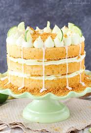key lime pie layer cake and sugar