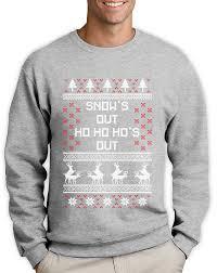 snow u0027s out ho u0027s out ugly christmas sweater funny sweatshirt