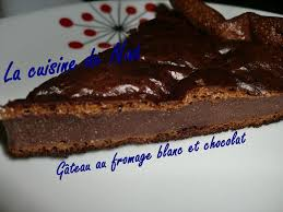 la cuisine de nad gâteau au fromage blanc et chocolat la cuisine de nad