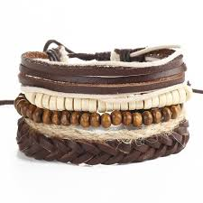 leather bracelet styles images 4 piece layered leather bracelet 18 different styles burt 39 s jpg