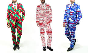 christmas suits braveman men s christmas suits with matching tie groupon