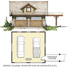 Garage Loft Plans Vacation Cabin With Vaulted Ceilings 18741ck 1st Floor Master