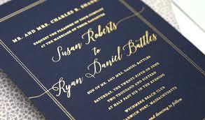 navy wedding invitations navy and gold wedding invitations marialonghi