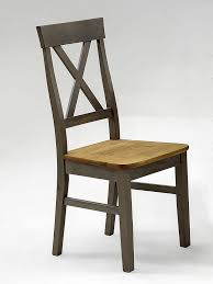 Esszimmerstuhl Grau Holz Stuhl 45x94x43cm Kiefer Massiv 2farbig Grau Lasiert Gelaugt Geölt