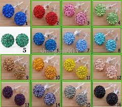 make stud earrings 925 silver earrings 10mm dazzling disco bead women s