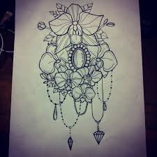 heart and flowers tattoo love love i love all the droplets and gems it really makes
