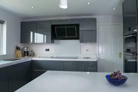 kitchen design northern ireland contemporary grey high gloss kitchen belfast stormer designs